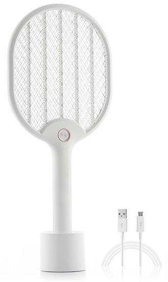 Raquete Anti-Insetos Rackill Recarregável com LED (Branco) - ProFTC