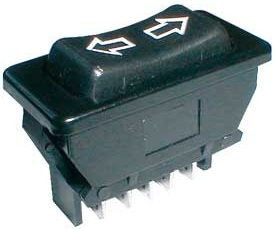 Interruptor p/ Elevador Vidros Autom. (ON)-OFF-(ON) 12V 20A