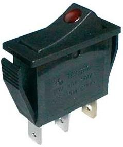 Interruptor Luminoso ON-OFF 250V/15A - LED Vermelho