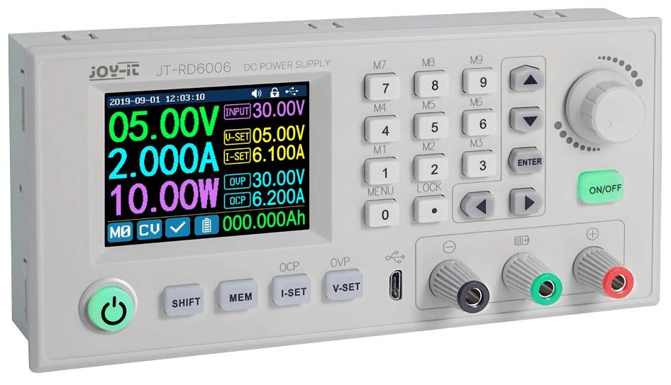Fonte Alimentação Laboratório Programável 0~60V 0~6A c/ Visor LCD