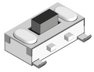Tact Switch SMD OFFON  [3,4x7x(3,5)mm] 12VDC 50mA
