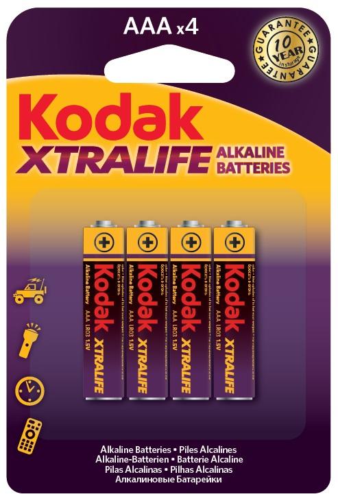 Blister 4 Pilhas Alcalinas 1,5V LR03 AAA - Kodak