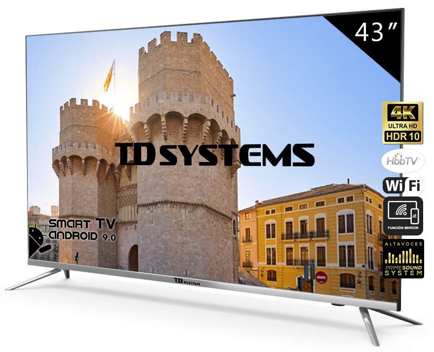 Smart TV DLED 4K UHD 43 K43DLJ10US Android 9.0 - TD SYSTEMS