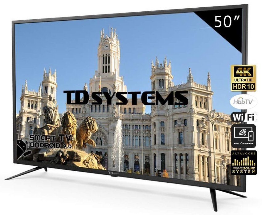 Smart TV DLED 4K UHD 50 K50DLJ10US Android 9.0 - TD SYSTEMS