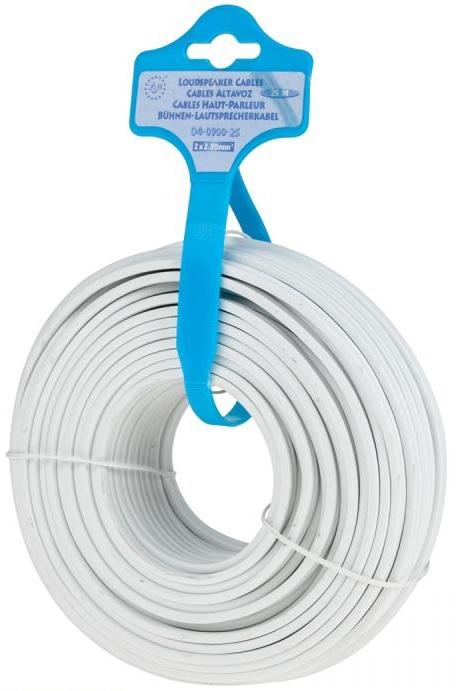 Bobine Cabo Coluna Branco 2x 1,5mm Branco (25 mts) - ProFTC
