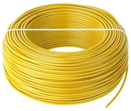 Bobine Fio Eléctrico Multifilar 1mm² H05V-K Amarelo (100 mts)