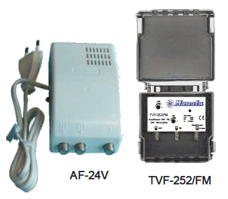 Kit Amplificador TVF-252/FM + Alimentador AF-24V - MANATA
