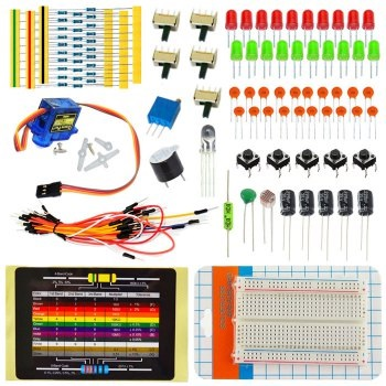 Kit Educacional Iniciação Básico c/ 21 Componentes Compativeis com Arduino/Funduino