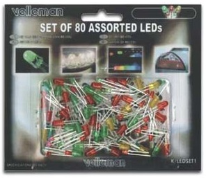 Kit 80 LEDs Diversos (3 e 5 mm)