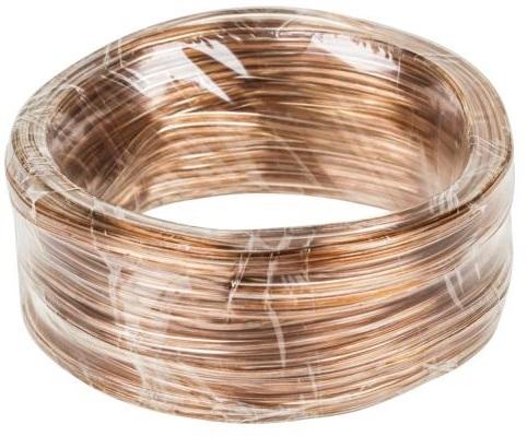 Bobine Cabo Coluna Transparente 2x 0,5mm (5 mts) - Cabletech