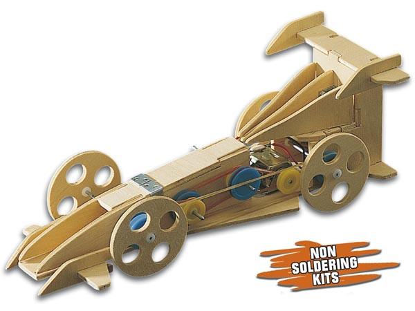 Kit Formula 1 Motorizado em Madeira