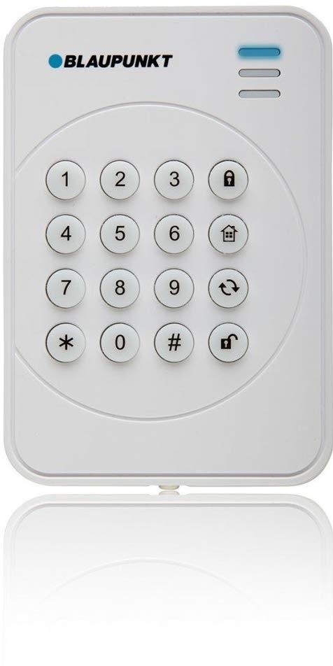 Teclado s/ Fios com Rolling Code p/ Alarmes SA & Q Series - BLAUPUNKT KP-R1