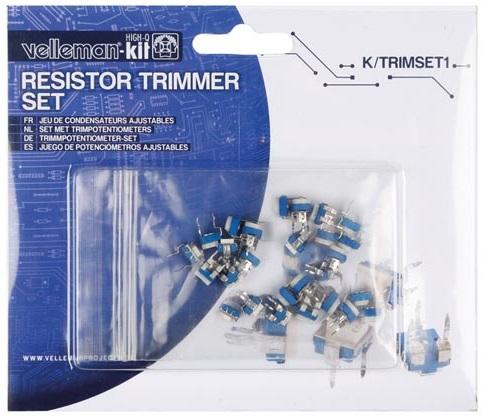 Kit de 35 Potenciometros de Ajuste (Trimmers) - Velleman