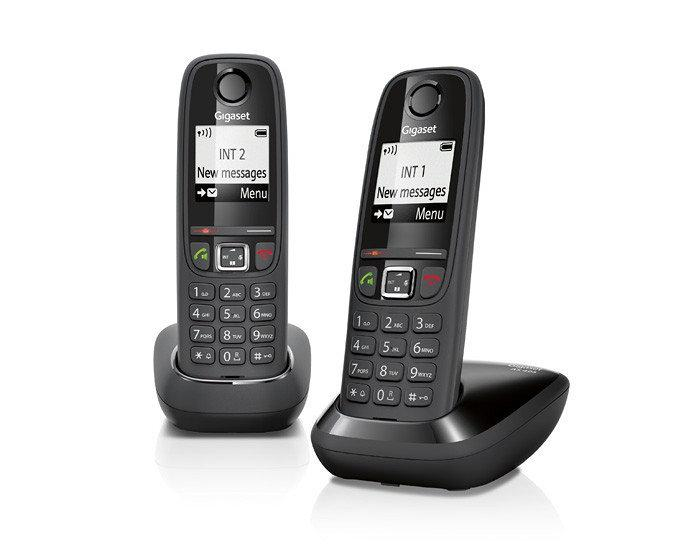 Pack 2x Telefones Digitais s/ Fios (Rede Fixa) Preto - SIEMENS Gigaset AS405 Duo