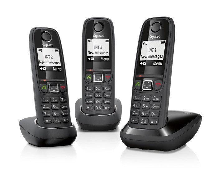 Pack 3x Telefones Digitais s/ Fios (Rede Fixa) Gigaset AS405 Trio - SIEMENS