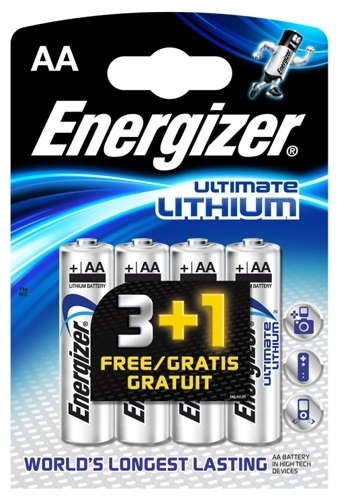 Blister 4 Pilhas Lithium Ultimate AA LR6 1,5V - ENERGIZER