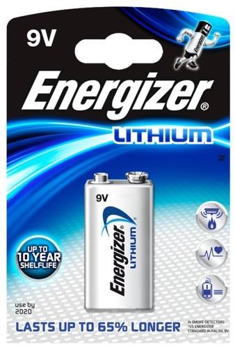 Pilha Lithium Ultimate E-Block 6LR61 9V - ENERGIZER