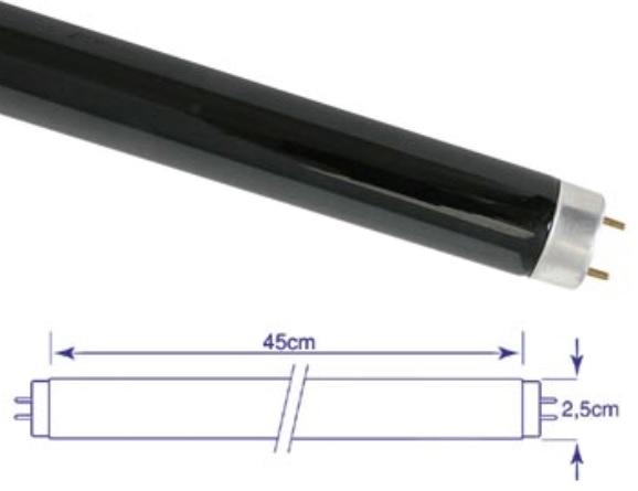 Lampada Fluorescente Luz Negra T8 15W 220V (45cm) - VELLEMAN