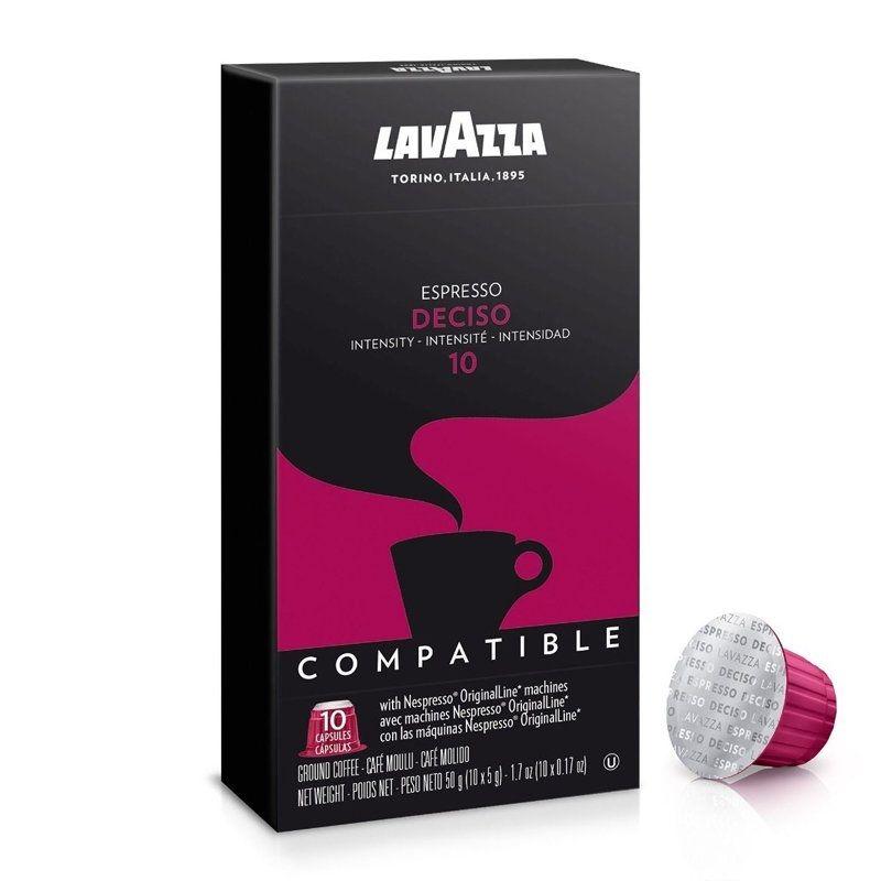 Caixa de 10 Cápsulas de Café Expresso Deciso Compatível c/ Nespresso (Intensidade 10) - LAVAZZA