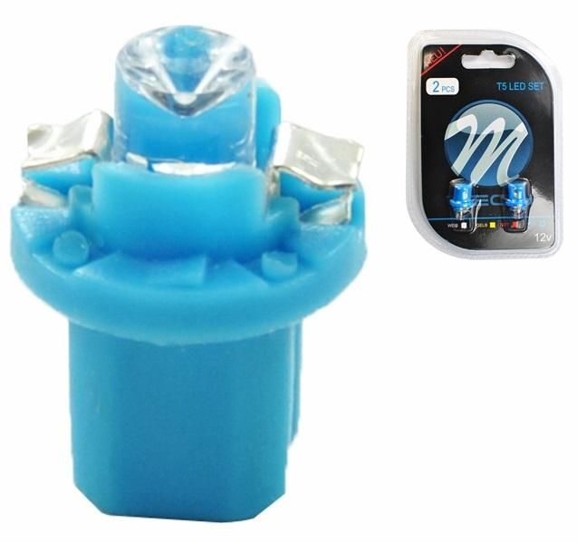 Blister 2x Lampadas LED B8.5d (Quadrante) Azul