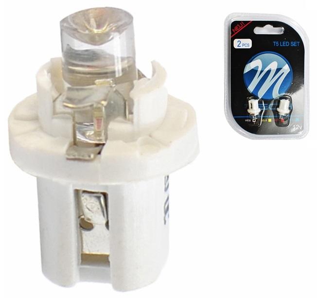 Blister 2x Lampadas LED B8.5d (Quadrante) Branco 6000K
