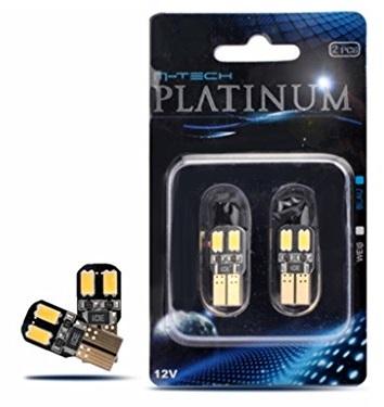 Blister 2x Lampadas T10/W5W 4 LEDs SMD5730 12V Branco 6000K CANBUS