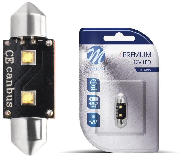 Lampada LED C5W 6W (CANBUS) 36mm Branco 6000K (2 x SMD3535) - QUALIDADE