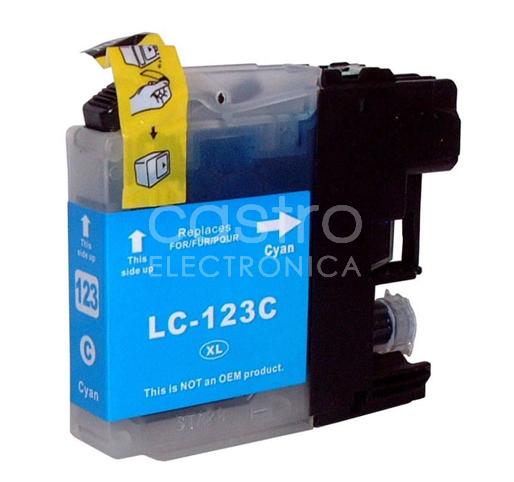 Tinteiro Compativel Brother LC123 XL (NOVA VERSÃO V3) Azul