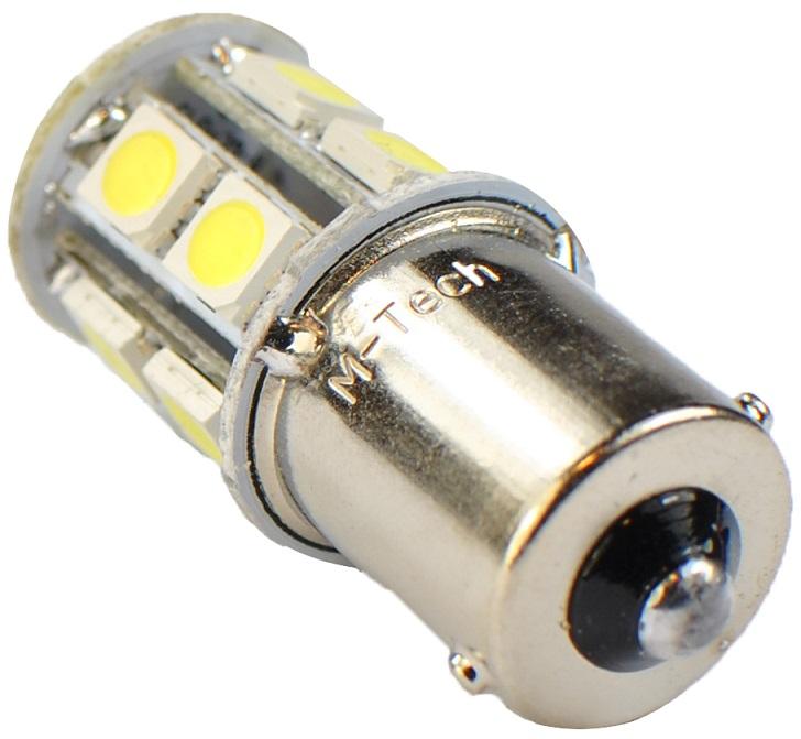 Lampada 13 LEDs SMD 12V Branco 6000K BA15s