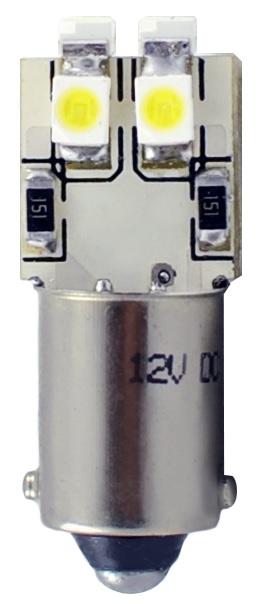 Lampada 6 LEDs SMD 12V Branco F. 6000K BA9s