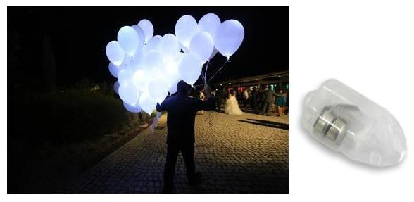 Pack 5 Balões Coloridos c/ Lampadas LED - ProFTC
