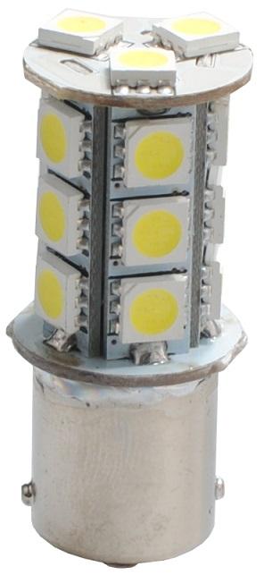 Lampada 18 LEDs SMD 12V Branco 6000K BA15s CANBUS