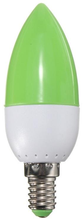 Lampada LED E14 220V 2W 120Lm - Verde
