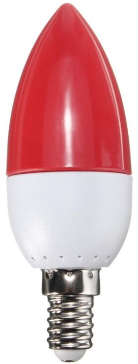 Lampada LED E14 220V 2W 120Lm - Vermelho