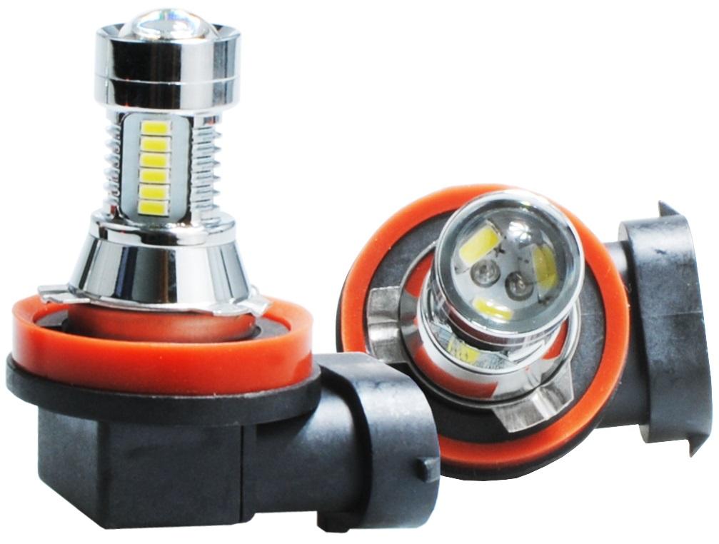 Lampada 21 LEDs SMD3014 21W H11 12-24V LG Branco 6000K