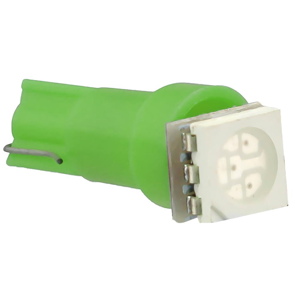 Blister 2x Lampadas 1 LED SMD 12V T05 - Verde