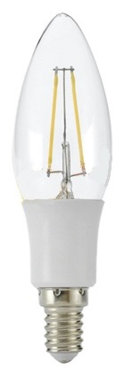 Lampada LED E14 Filamento 220V 3W Branco Q. 3000K 330Lm