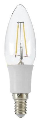Lampada LED E14 Filamento 220V 3W Branco F. 6000K 360Lm
