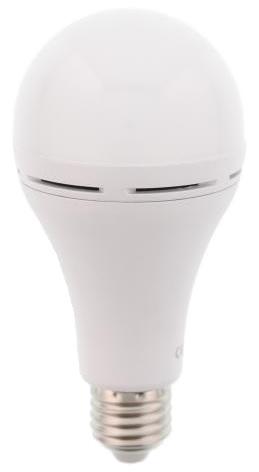 Lampada LED E27 A60 220V 7W Branco 4000K 350Lm c/ Bateria Incorporada Li-ion 18650 1200mAh