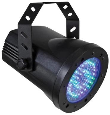 Projector 76 LED´s RGB PAR36 DMX em ABS - HQ POWER