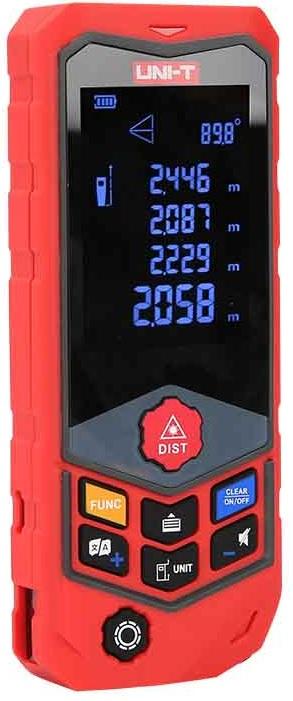Medidor de Distâncias a Laser c/ Curvatura 2,4 USB IP65 (100 mts) - UNI-T