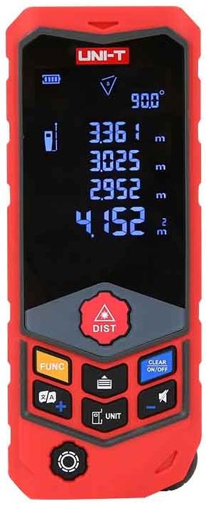 Medidor de Distâncias a Laser c/ Curvatura 2,4 USB IP65 (50 mts) - UNI-T