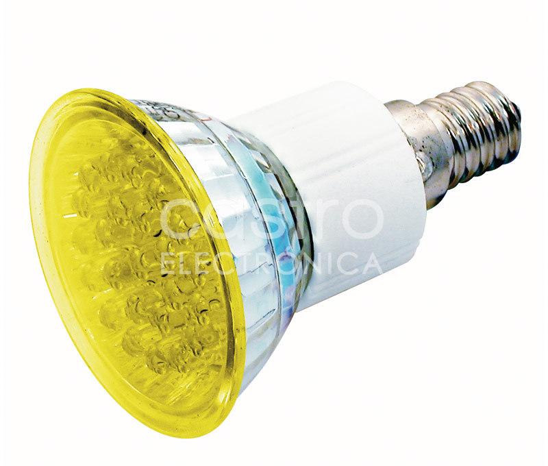 Lampada 24 LEDs 220V E14 1,8W Amarelo
