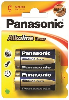 Blister 2 Pilhas Alcalinas 1,5V C / LR14 - PANASONIC