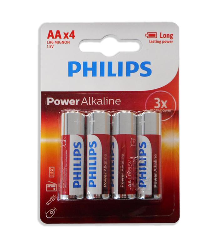 Blister 4 Pilhas Alcalinas 1,5V LR06 AA - PHILIPS