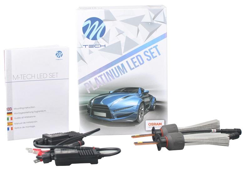 Kit 2x Lampadas Cree LED Platinum H7 6000K 40W 5200Lm (Substitui Xenon) - M-TECH / OSRAM