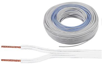 Bobine Cabo de Coluna 2x 0,35mm Branco (100 mts)