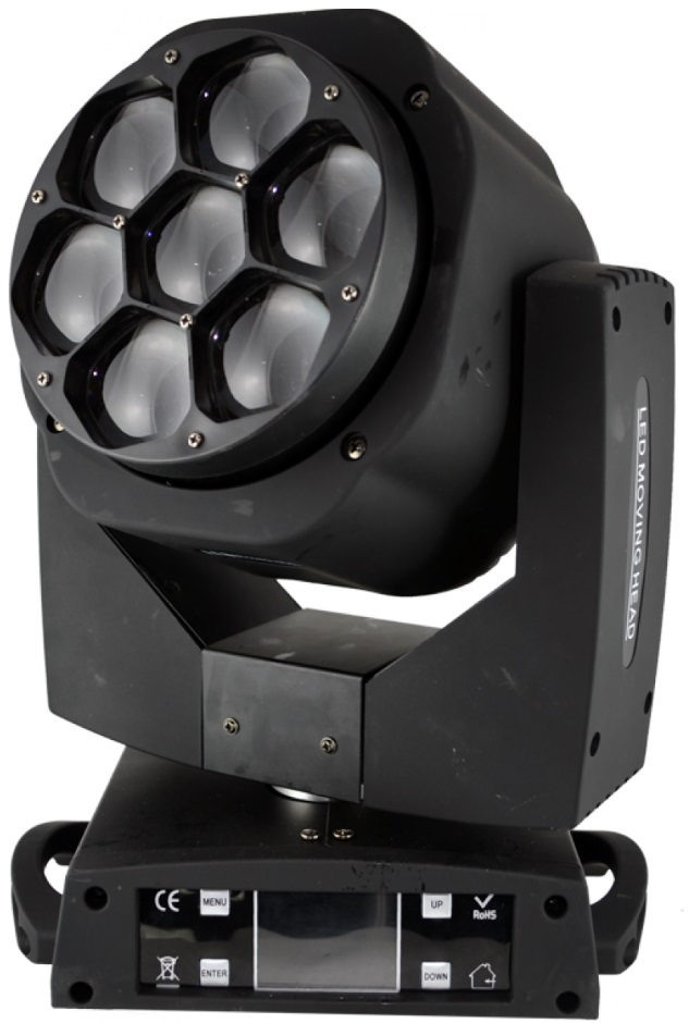Moving Head BEAM/WASH 105W RGBW DMX - ACOUSTIC CONTROL