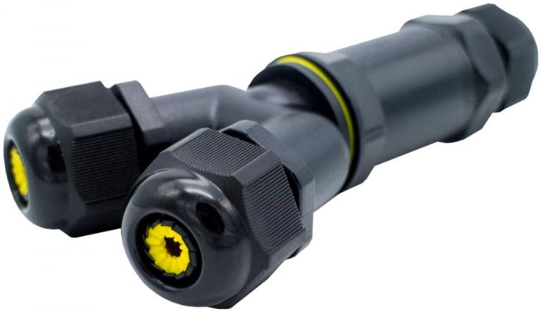 Ligador Estanque (3 Pinos) em Y 1.0~2.5mm2 IP68 p/ Instalações Eléctricas Exteriores