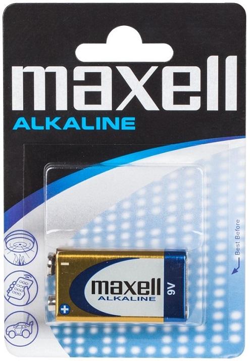 Pilha Alcalina 9V 6LR61 - MAXELL